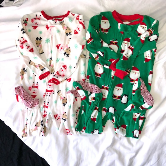8ba55b8118 Just One You made by Carter s Other - Bundle Of Footed Fleece Christmas  Pajamas